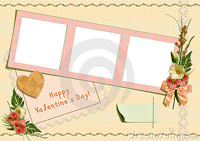 Retro photo album - Happy Valentine s Day