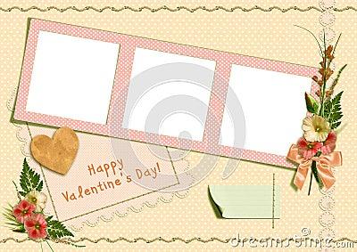 Retro photo album - Happy Valentine s Day