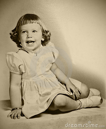 Retro Photo Young Girl