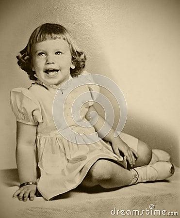 Retro Photo Young Girl