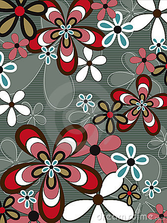 Free Retro Pink Brown Flower Power Stock Images - 3022984