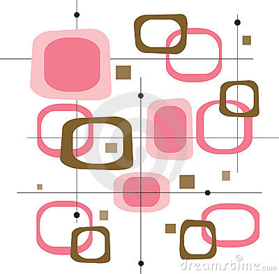 Free Retro Pink Squares (Vector) Royalty Free Stock Photography - 2564827