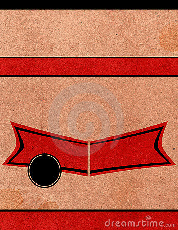 Retro- Plakat Playbill Hintergrund-Schablone