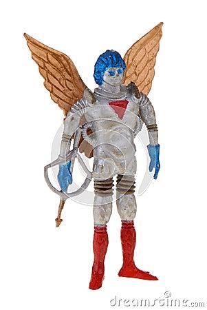 Retro plastic spaceman toy