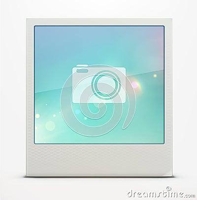 Retro polaroid photo frame
