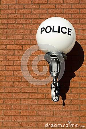 Retro Police Sign