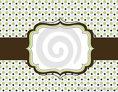 Retro polka dot background