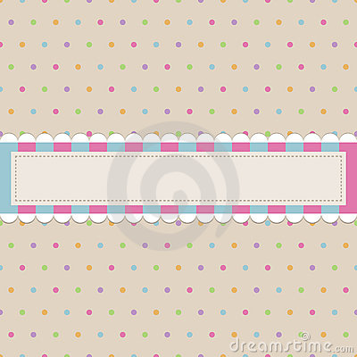 Retro polka dot with banner