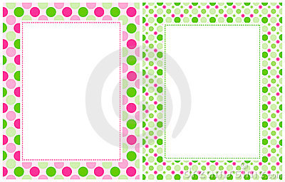 Colorful Polka Dot Border Retro-polka-dots-border- ...