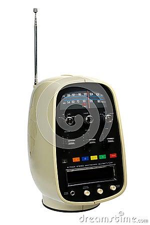 Retro Portable 8 Track Tape Player & Radio Royalty Free ...