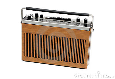 Retro portable transistor radio of 60s and 70s