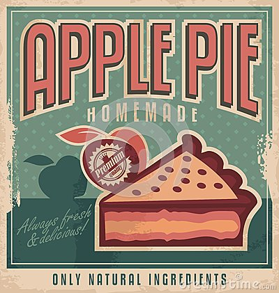 Free Retro Poster Design For Apple Pie Royalty Free Stock Image - 35649396