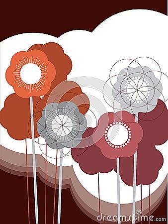 Retro puff flower
