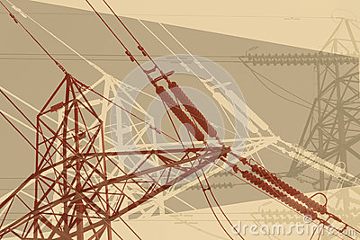Retro pylon silhouettes