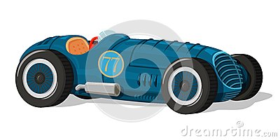 Retro racing car icon