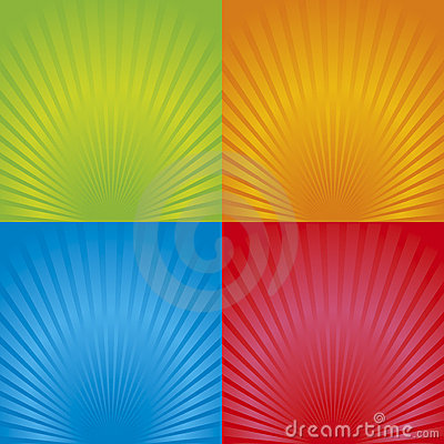 Free Retro Radial Background 02 Stock Image - 14537201