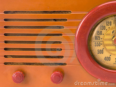 Retro radio close-up