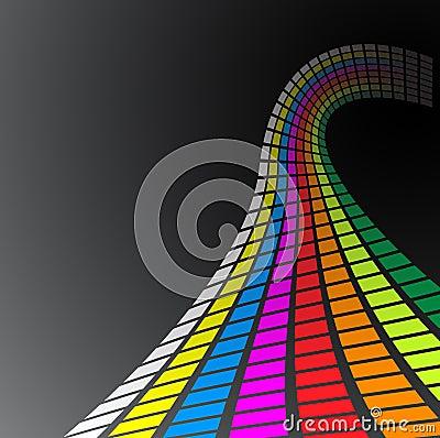 Free Retro Rainbow Waves Stock Images - 8637804
