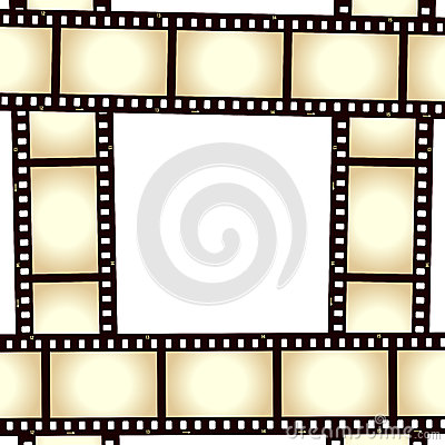Retro ram för filmremsafoto