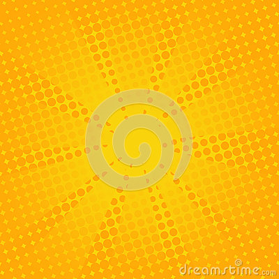Free Retro Rays Comic Yellow Background. Royalty Free Stock Images - 97048449