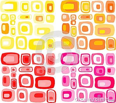Retro  rectangles patter