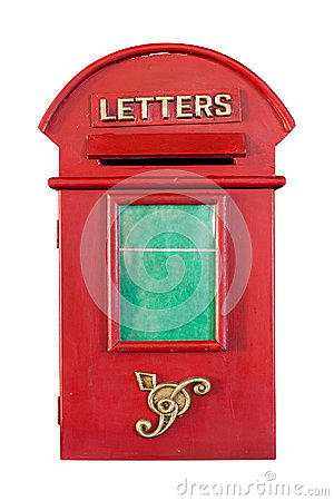 Free Retro Red Letterbox Royalty Free Stock Image - 34261206