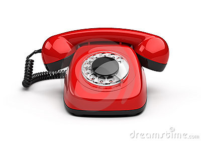Retro red phone