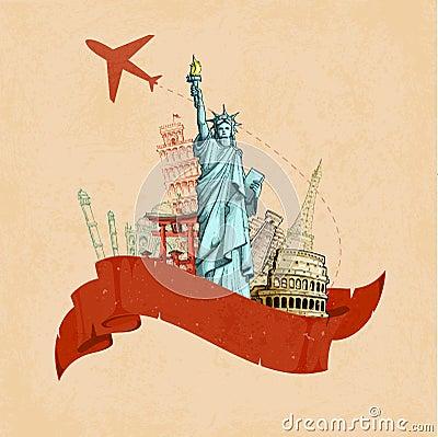 Retro- Reise-Plakat