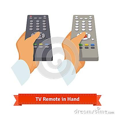 Free Retro Remote Control In Hand Stock Photos - 65609633