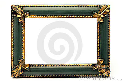 Retro Revival Old Gold and Green Frame (No#1)