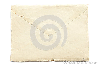 Retro ripped envelope