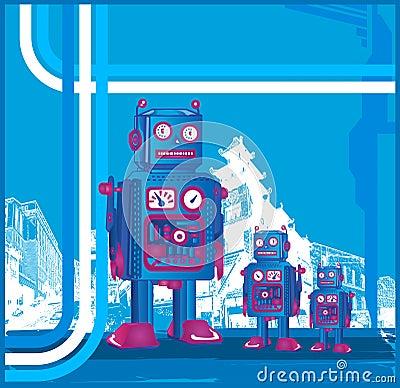 Retro Robot & Son