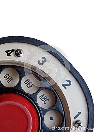 Retro Rotary Phone Dial