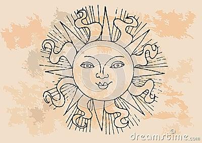 Retro słońce