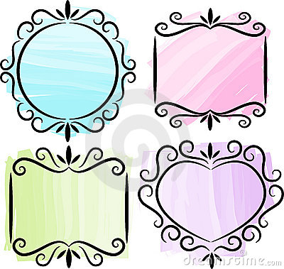 Free Retro Scrollwork Frame Collection/ai Royalty Free Stock Images - 14979209