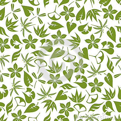 Free Retro Seamless Pattern Of Pale Green Leaves Royalty Free Stock Photo - 70050005
