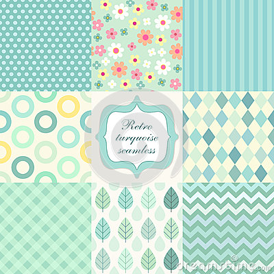 Free Retro Seamless Patterns 3 Stock Photography - 49884002