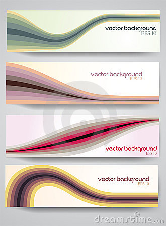 Retro set of vector Headers