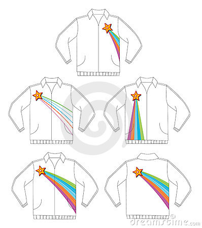 Retro shining star jacket