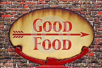 Retro sign Good Food