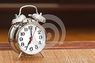 Retro silver alarm clock
