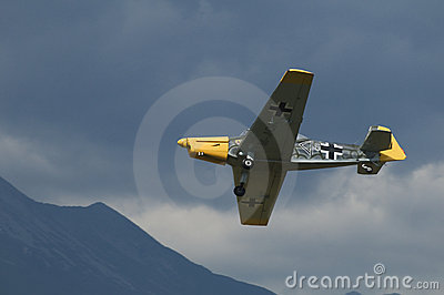 Retro sky team - demonstration in the airshow Editorial Photo