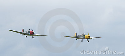 Retro sky team - demonstration in the airshow Editorial Photography