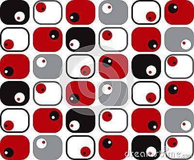 Retro soft squares and dots