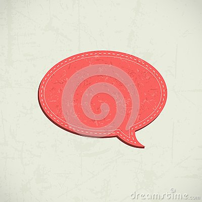 Retro speech bubble