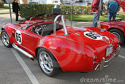A retro sports car Cobra