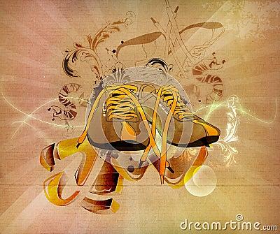 Retro sports shoes