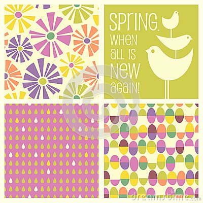 Free Retro Spring Designs And Seamless Patterns Royalty Free Stock Photo - 111270135
