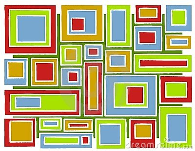 Retro Squares Christmas Background