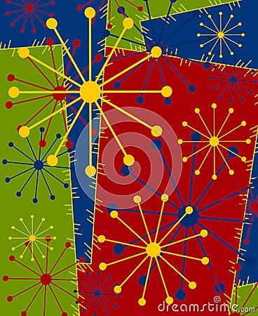 Retro Stars Xmas Background